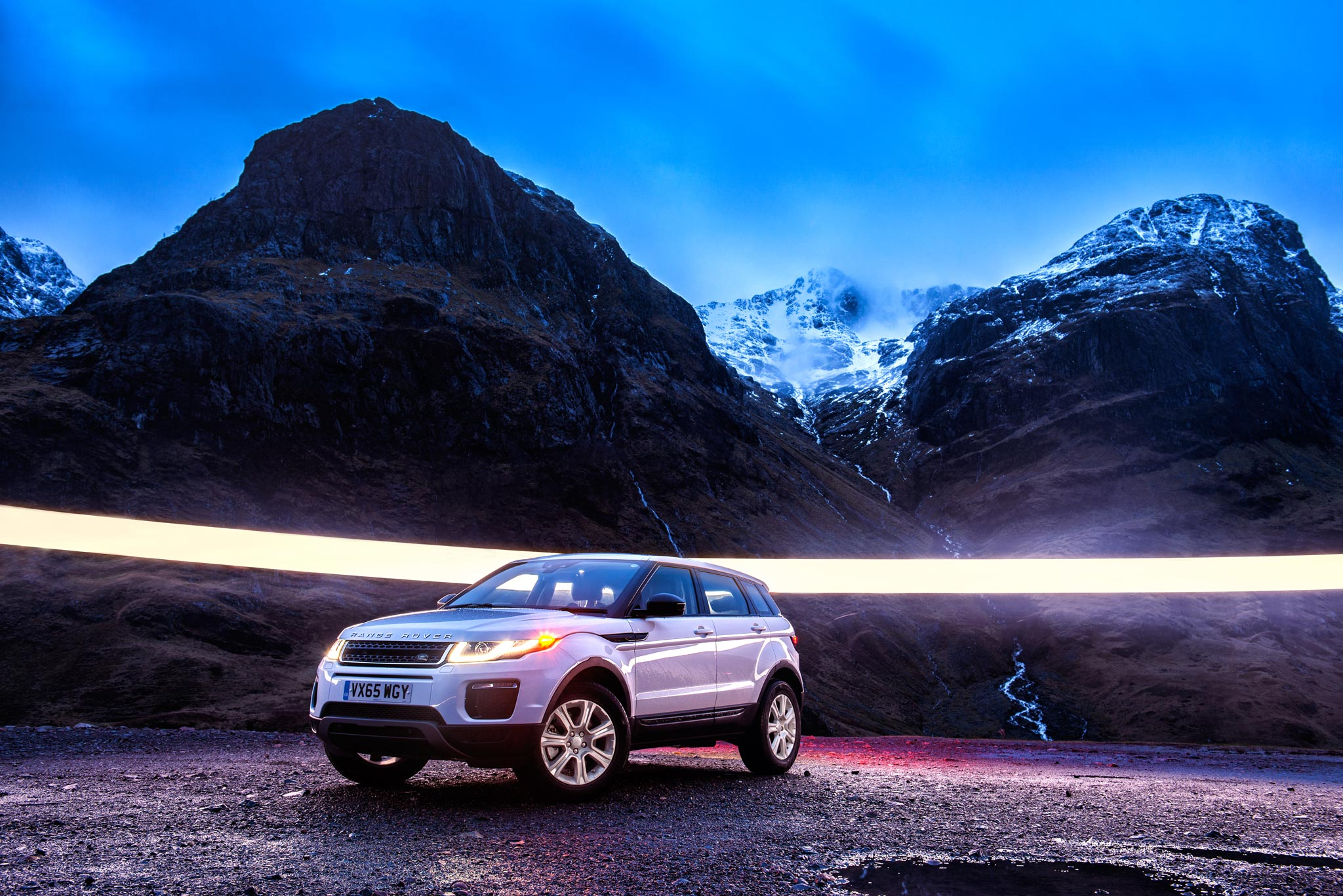 Land Rover  Range Rover Evoque photography shot by DeanWrightAutomotive