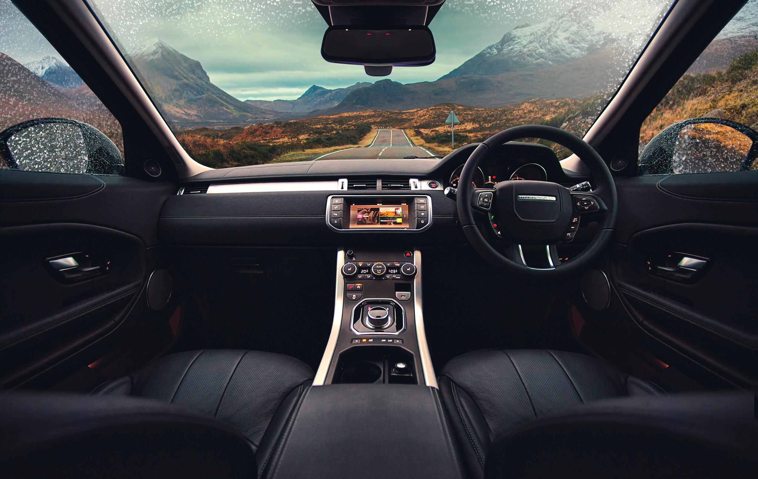 Land Rover  Range Rover Evoque Interior photography shot by Dean Wright