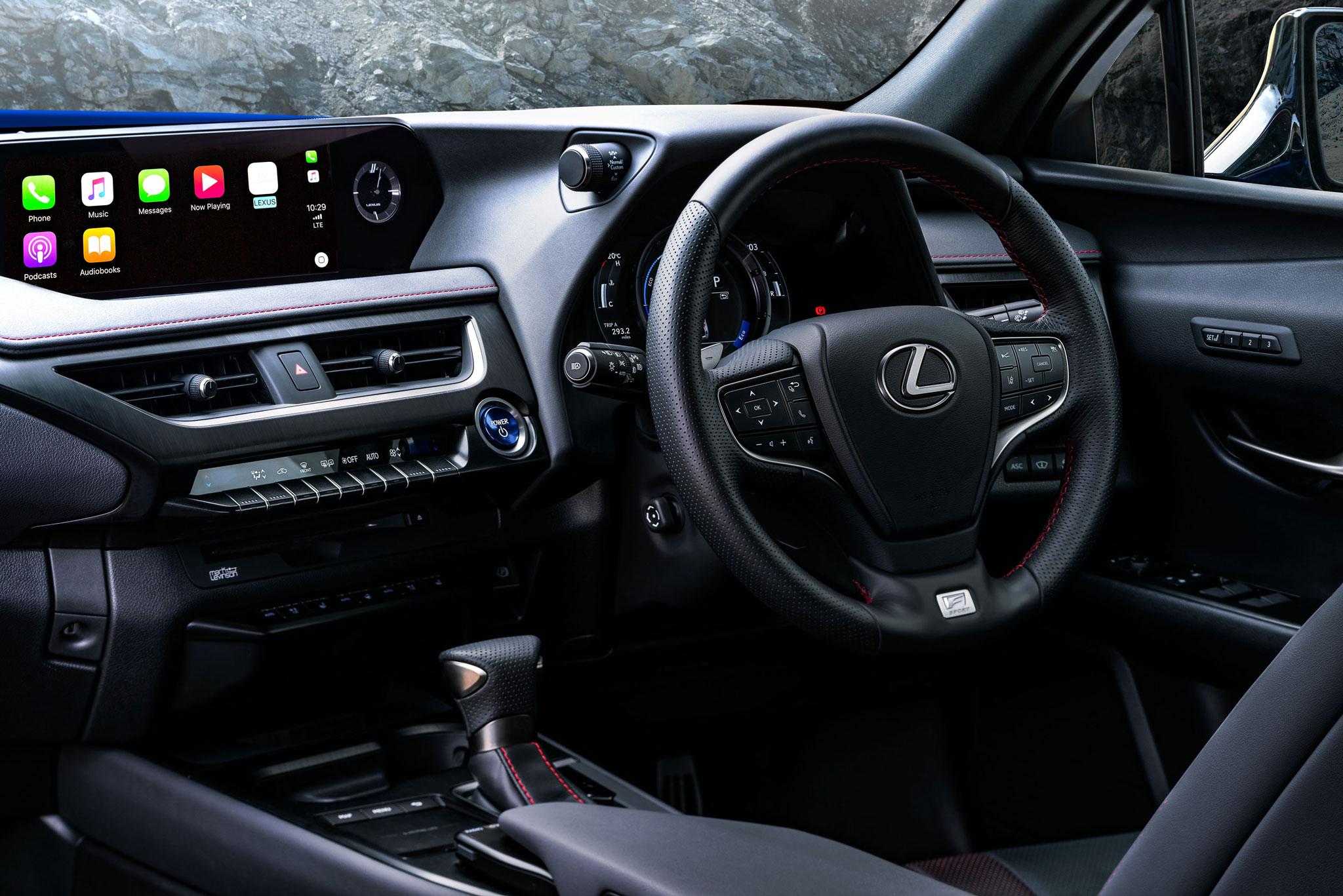 Car interior photography Lexus UX shot by car photographer Dean Wright Automotive